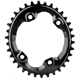absoluteBLACK Oval Chainring 96 BCD for Shimano XT black